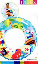 INTEX ~ Schwimmring ~ Schwimmreifen ~ hellblau ~ Strand ~ Pool ~ Ring ~ Urlaub ~
