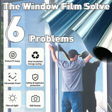 Home Tint Solar Reflective Window Film One Way Mirror Stickers Anti UV Privacy