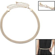 Women Ladies Girls Metal Gold Fashion Waist Chain Belt Bridal Wedding Party  773 97512937bb48