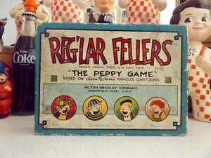 "1926 Milton Bradley Reglar Fellers Game ""The Peppy Game"" NY Gene Byrnes Complete"