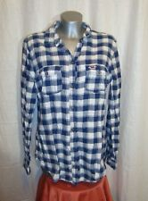 Ladies HOLLISTER long sleeved checked casual shirt  sz L GREAT co LOVELY