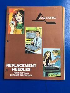 Vintage Astatic Replacement Needles for Crystal & Ceramic Cartridges, N85 Series