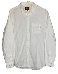 Supreme Oxford Button Down Shirt Sz Large White Long Sleeve - Read Description