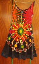 Spanish streetwear designer summer cotton dress sleeveless bright size XS/8 NEW