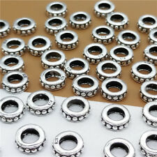 10pcs of 925 Sterling Silver Large Hole Gear Round Spacer Beads for Bracelet