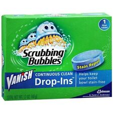 Vanish Drop-ins Toilet Cleaning Tablet w/ Scrubbing Bubbles - 1.7 Oz(Pack of 12)