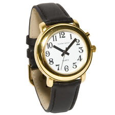 Unisex Gold One Button Talking Watch - Low Vision, Loud, One Button, Easy to Use