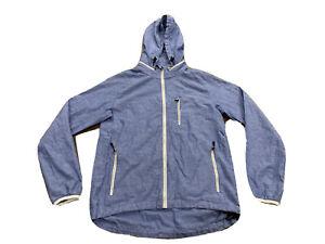 Nike Sportswear Mens Blue Chambray Super Runner Full Zip Track Jacket Size S