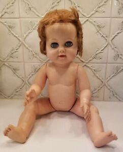 Vintage 1950's 20 Inch Hard Plastic Baby Doll Sleepy Eye Crybaby Drink Wet 20-5W
