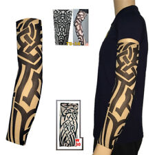 Tribal Punk Mens Women Elastic Nylon Temporary Fake Tattoo Print Sleeves Arm