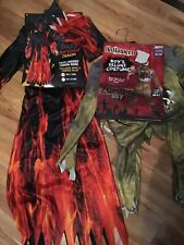 2 Boys Halloween Costumes Zombie Boy & Inferno Demon 5-7y