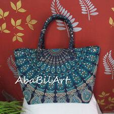 Hippie Blue Multi Handbags Women Shoulder Bag Mandala Tote Bag New Shopping Bags