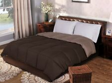 TwinXL Taupe & Chocolate Brown All Season Reversible Down Alternative Comforter