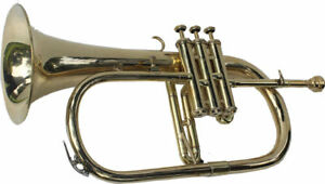 NEW HIGH QUALITY SOUND! Bb FLAT FLUGEL HORN BRASS WITH FREE HARD CASE+MOUTHPIECE
