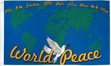"""New listing """"World Peace Map"""" 3x5 ft flag polyester"""