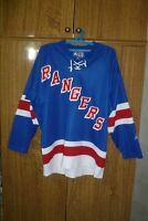 New York Rangers Starter NHL Jersey NY Ice Hockey Vintage Blue Men Size M Medium
