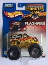 Hot Wheels Monster Jam Truck FLASHFIRE #33 2002 Die-cast 1/64 Scale B3190~0718