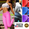 Womens Yoga Pants Anti-Cellulite Push Up Leggings Sports Ruched Scrunch Trousers