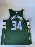 Giannis Antetokounmpo Icon Swingman Jersey Milwaukee Bucks #34 Size Large 48