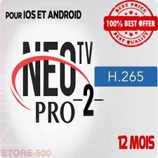 NEO TV PRO 2 H.264 - 12 Mois subscription code et m3u