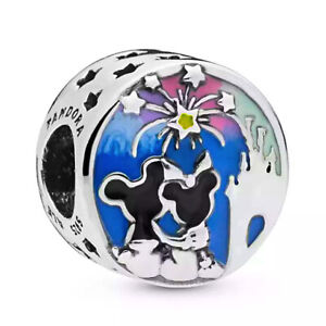 Authentic Pandora Disney Mickey and Minnie Mouse Fireworks Silver S925 ALE Charm