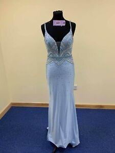 BNWT Rachel Allan pageant dress SIZE UK8-10 Style 7304 code P447 powder blue