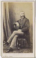 Casa Tenda Cherbourg Francia CDV Vintage Albumina Ca 1860