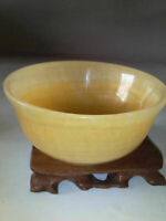 Chinese 100/% Natural Untreated jades Hand-carved Bowl Statues Kung Fu tea bowl