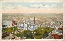 Toledo Ohio~City Panorama~Lucas Co Court House Square~1918 Postcard