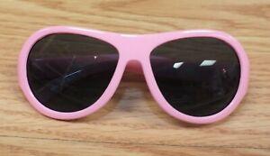 "Polarized ""I'm Awesome"" Pink Striped Baby Babiators Sunglasses **READ**"
