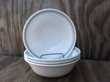 4 Corelle Dishes Rosemarie Country Cottage White Soup, Cereal Bowls Set Of 4