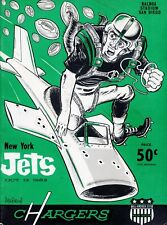 1963 NEW YORK JETS VS CHARGERS PROGRAM PHOTO 8x10 GREAT GRAPHICS 1