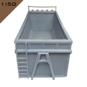 1x 3D printed HOOKLIFT CONTAINER 1:50 Model Miniature Scenery Layout Diorama
