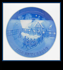 """BING AND GRONDAHL 1969 """"ARRIVAL OF CHRISTMAS GUESTS"""" COLLECTORS PLATE GR"""
