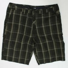 Hurley men's size 36 brown white plaid checkered shorts