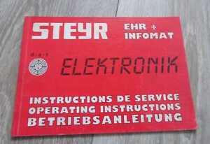 Steyr Schlepper EHR für 8080 8090 8110 8130 8150 8170 Betriebsanleitung