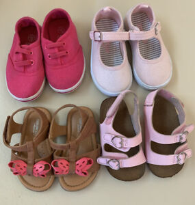 Baby Girl Shoes Sandals Lot Size 4