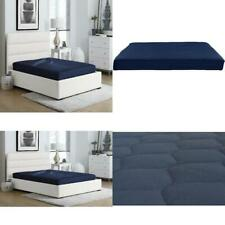 Full Size 6 Inch Polyester Filled Quilted Top Bunk Bed Mattress in Navy