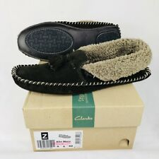 Clarks Mens Seasonal Kite Mocc Suede Slippers in Brown 8 G