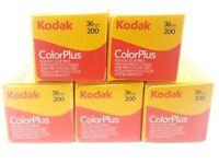 5 x KODAK COLORPLUS 200 35mm 36Exp CHEAP COLOUR PRINT FILM -1st CLASS ROYAL MAIL