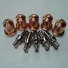 10PC SHIELDED TIP/ELECTRODE SET AHP ALPHACUT 60 PLASMA CUTTER PT-60 TORCH 40 AMP