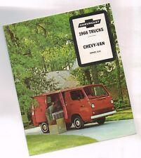 1966 Chevy VAN G10 Truck Brochure: G-10,230......NOS!