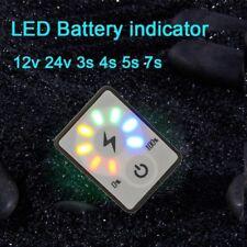 Batterie monitor 12V 24V 3S 4S 5S 7S Kapazität LED Indikator Anzeige