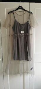 Topshop Grey Organza Tulle Dress 12