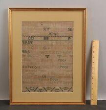 New listing 18thC Antique 1796 Early American Folk Art Sampler Embroidery Poem & Alphabet