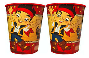 JAKE Neverland Pirates plastic Favor Cup Birthday Party Supplies16oz 2 cold cups