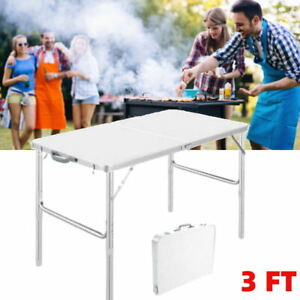 3FT Folding Camping Picnic Table Party Kitchen Outdoor Garden  Party BBQ Desk
