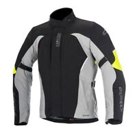Alpinestars Ares Waterproof Gore-Tex Motorcycle Motorbike Jacket Black Grey Fluo