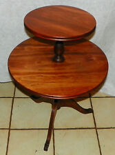 Light Cherry 2 Tier Dumbwaiter Table / Parlor Table  (T376)