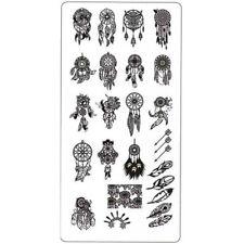 Traumfänger Stempel Schablone Federn Stamping Platte Nail Art Eule Fantasy #4